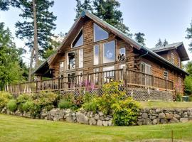 Log Home on Lopez-Spencer Spit, Port Stanley